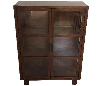 Crate & Barrel Oak Park Library Cabinet