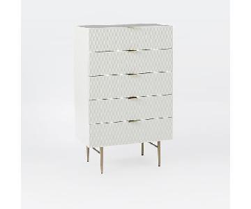 West Elm Audrey Tall 5-Drawer Dresser in Parchment