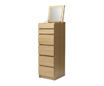 Ikea Malm Tall Dresser w/ Mirror