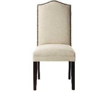 Camel-Back Parsons Chairs w/ Nailhead Trim