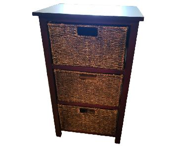 3-Drawer Storage End Table