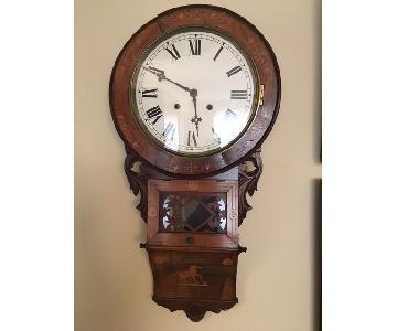 Antique American Wall Clock