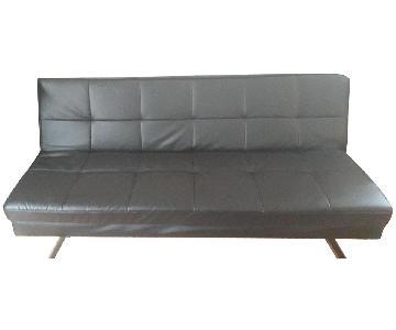 Wayfair Convertible Leather Futon
