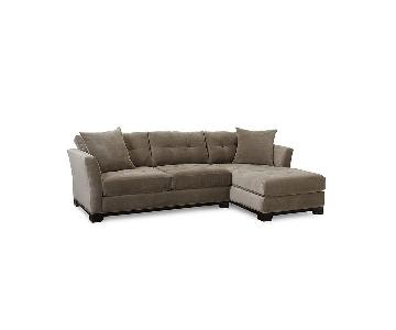 Jonathan Lewis Grey Sectional Sofa