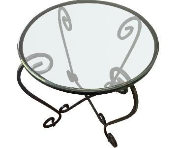 Pier 1 Scroll Wrought Iron Side Table