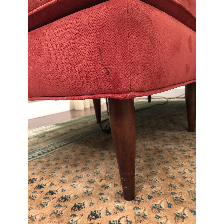 Miraculous American Leather Red Microfiber Sofa Ottoman Aptdeco Uwap Interior Chair Design Uwaporg