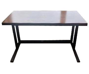 Crate & Barrel Wood & Metal Desk