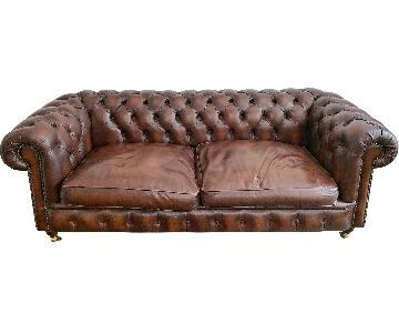 Belchamp Brown Leather Chesterfield Sofa