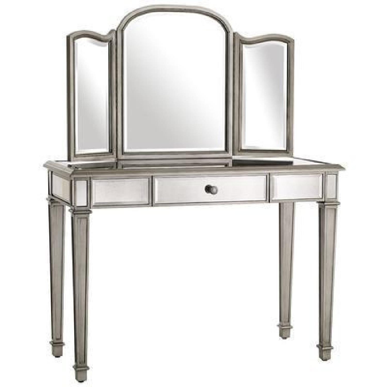Pier 1 Hayworth Silver Vanity w/ Mirror