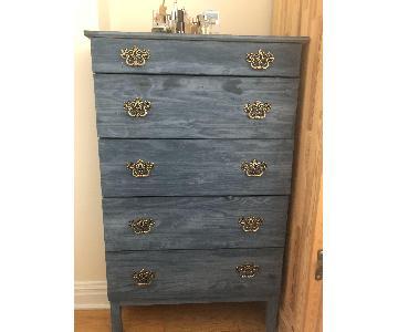 Hand Painted Dresser w/ Antique Handles