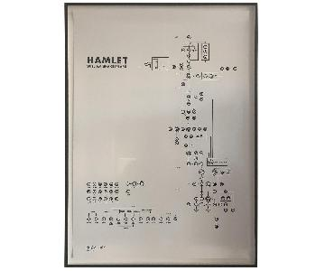 Helena Wahlman Signed Shakespeare's Hamlet as a Diagram