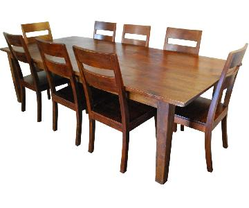 Crate & Barrel Basque 9-Piece Dining Set