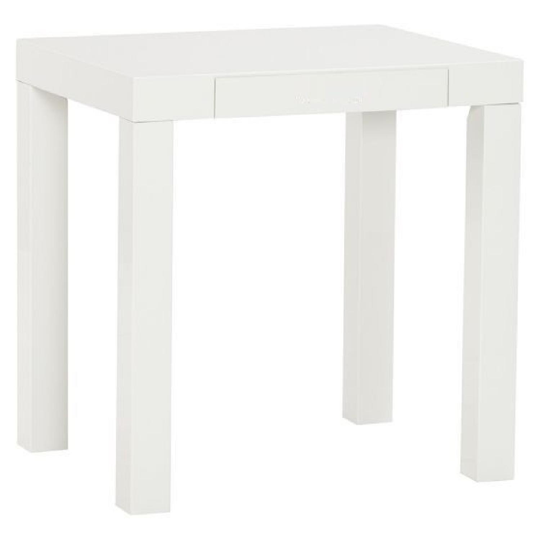 Parsons High-Gloss White Desk/Table