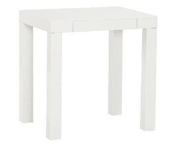 Parsons High-Gloss White Desk/Table