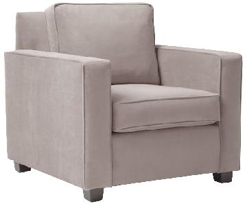 West Elm Dove Gray Henry Armchair