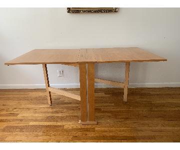 Teak Drop-Leaf/Folding Dining Table