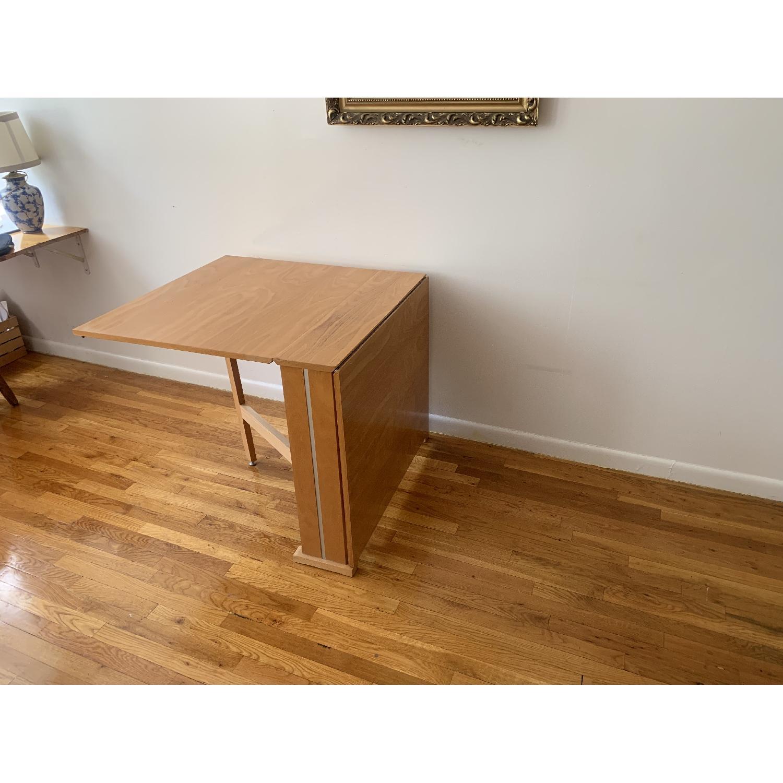 Teak Drop-Leaf/Folding Dining Table-1