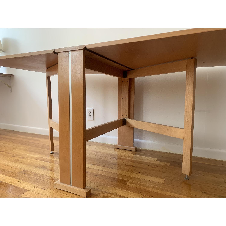Teak Drop-Leaf/Folding Dining Table-3
