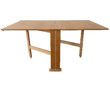 Teak Drop-Leaf/Folding Dining Table
