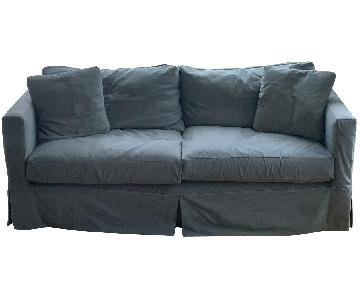 Crate & Barrel Willow Grey Slipcovered Sofa