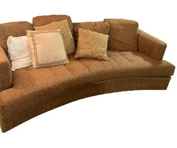 Neutral Fabric Upholstered Sofa