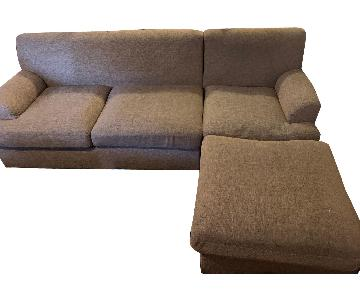 Grey Sectional Sofa w/ Chaise Lounge