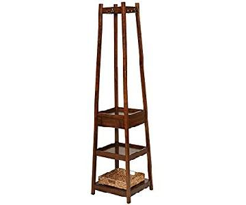 Andover Mills Clark Storage Shelve Coat Rack