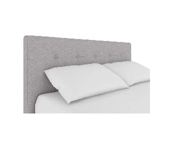 Winston Porter Houchins Upholstered King Size Grey Headboard
