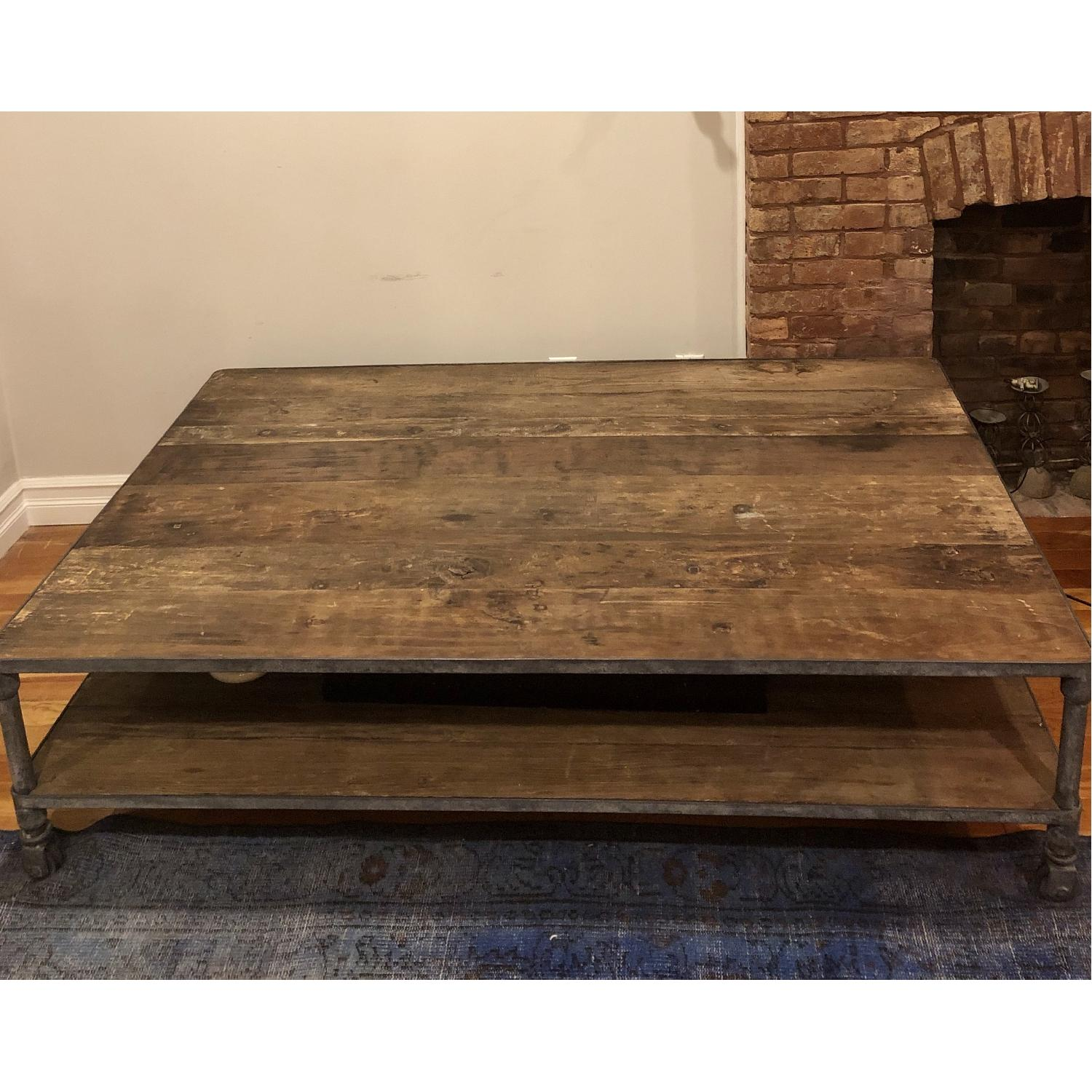 Restoration Hardware Dutch Industrial Coffee Table - image-3