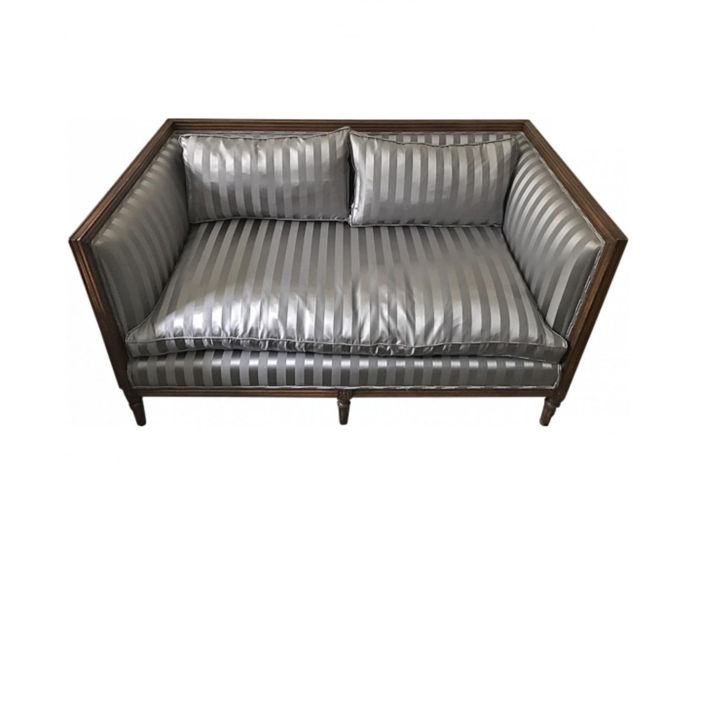 Light Grey Upholstered Loveseat