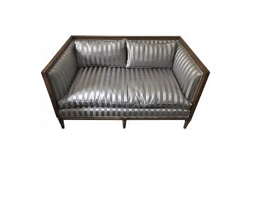 Light Grey Upholstered Loveseat