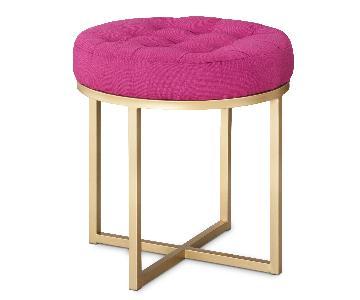 Target Threshold Pink & Gold Ottoman