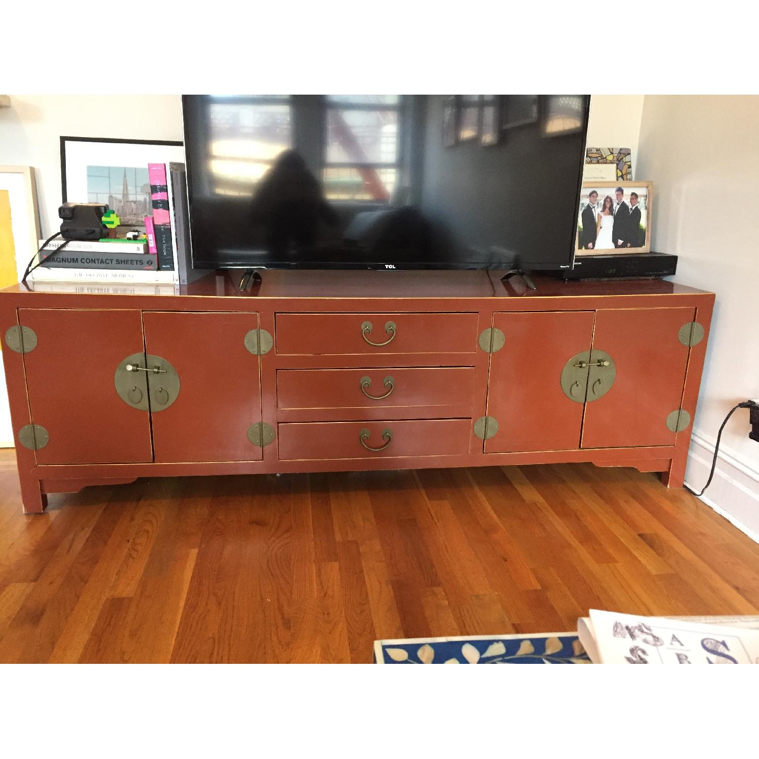 Bloomingdale's Antique TV Stand/Storage Chest - image-1