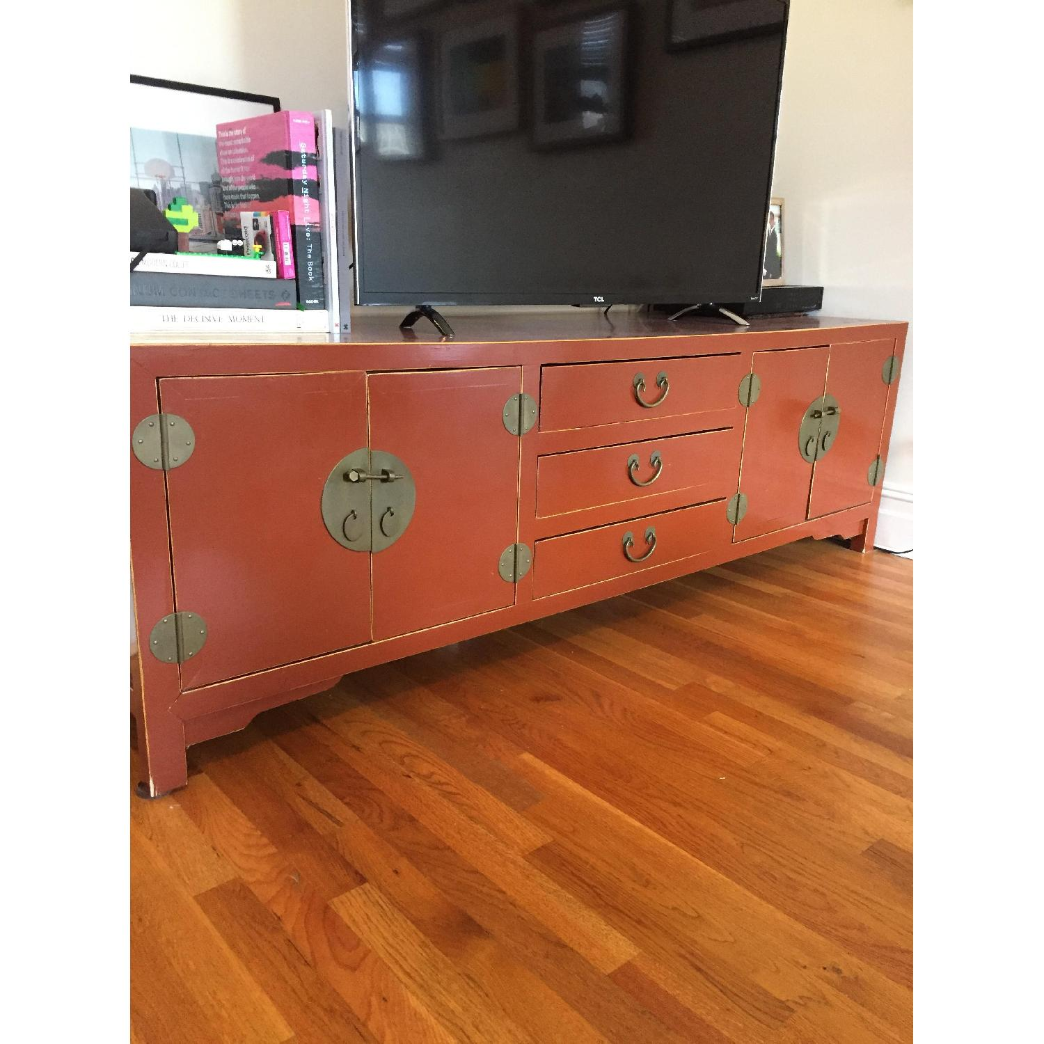 Bloomingdale's Antique TV Stand/Storage Chest - image-2