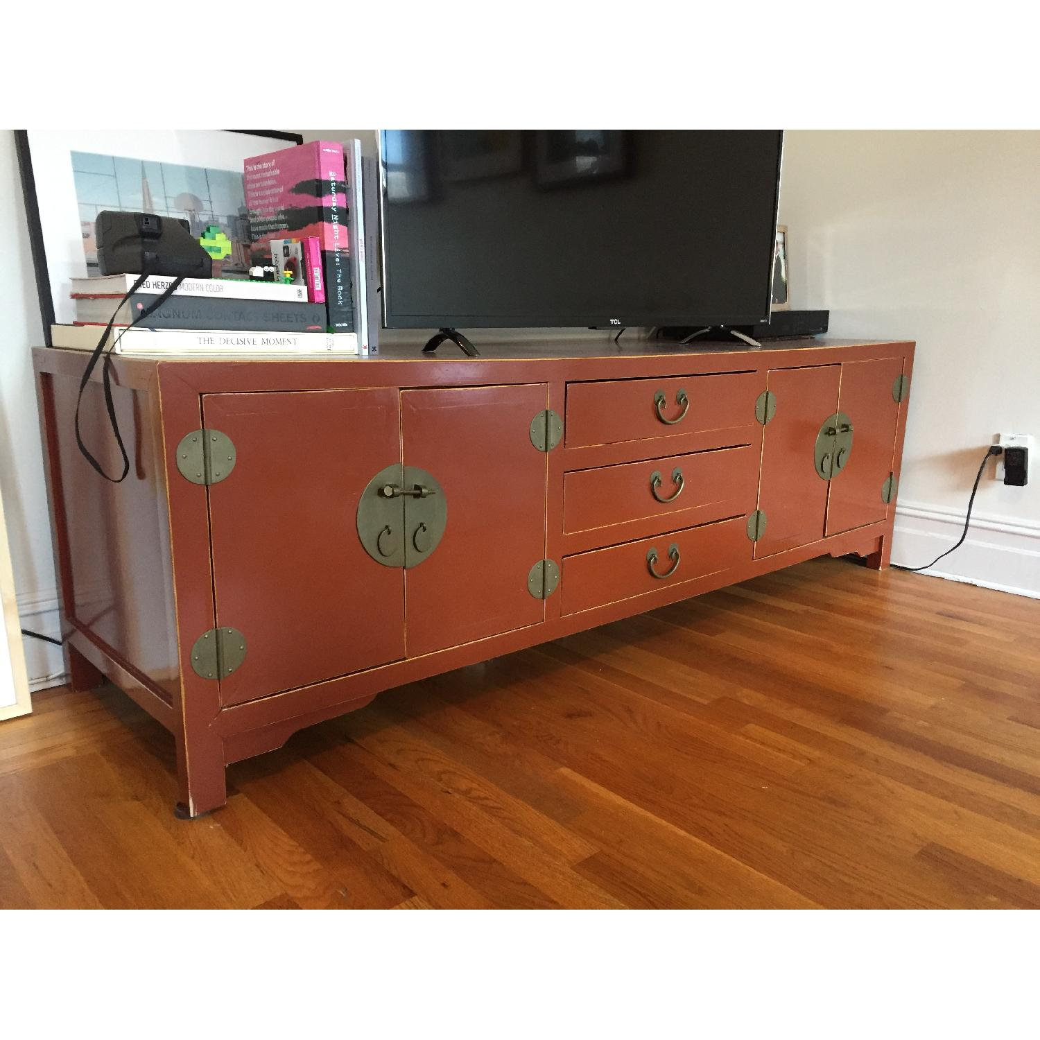 Bloomingdale's Antique TV Stand/Storage Chest - image-3