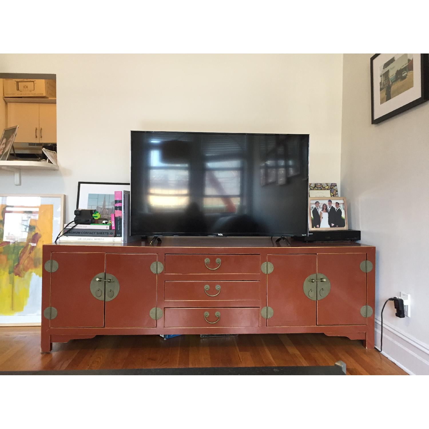 Bloomingdale's Antique TV Stand/Storage Chest - image-4