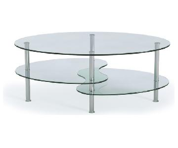 Ryan Rove Two-Tier Glass Coffee Table