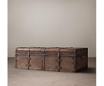 Restoration Hardware French Steamer Trunk Coffee Table