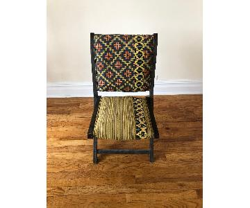 Anthropologie Terai Folding Chair in Yellow Ikat