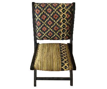 Anthropologie Terai Folding Chair in Yellow Ikat