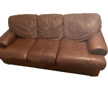 Leather Tempurpedic Sleeper Sofa