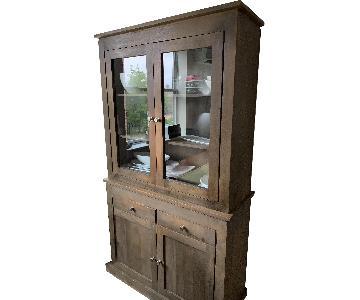 Nadeau Furniture Glass & Wood Hutch/Sideboard