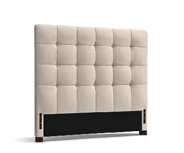 Pottery Barn Tufted Square Upholstered Headboard