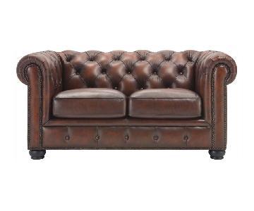 Raymour & Flanigan Hutchinson Leather Loveseat
