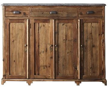 Restoration Hardware Victorian Bluestone Wood Sideboard