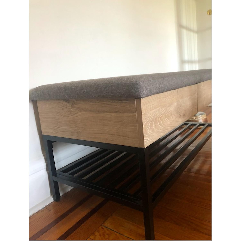 Astonishing Target Modern Entryway Bench W Storage Aptdeco Cjindustries Chair Design For Home Cjindustriesco