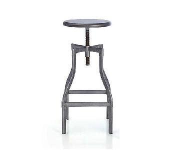 Crate & Barrel Adjustable Height Toledo Bar Stools