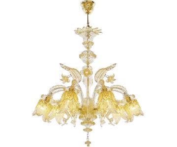 Murano Classics Glass Gold Chandelier