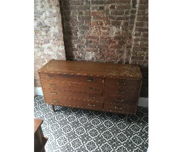 Wood Dining Chest + Side Table