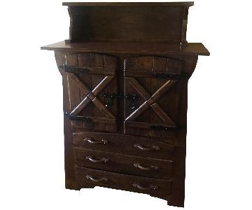 Vintage Handmade Chestnut Cabinet